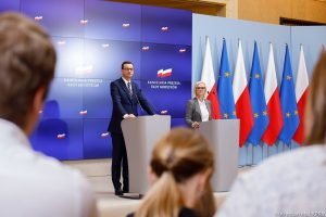 The Prime Minister od Poland – EMPORA lecterns with height regulation