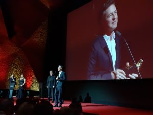 Mr. Edward Norton and our Antica lectern on the same stage :)