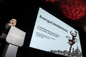 energaCamerimage 2019 Gala was held by Grażyna Torbicka by Awarts lectern
