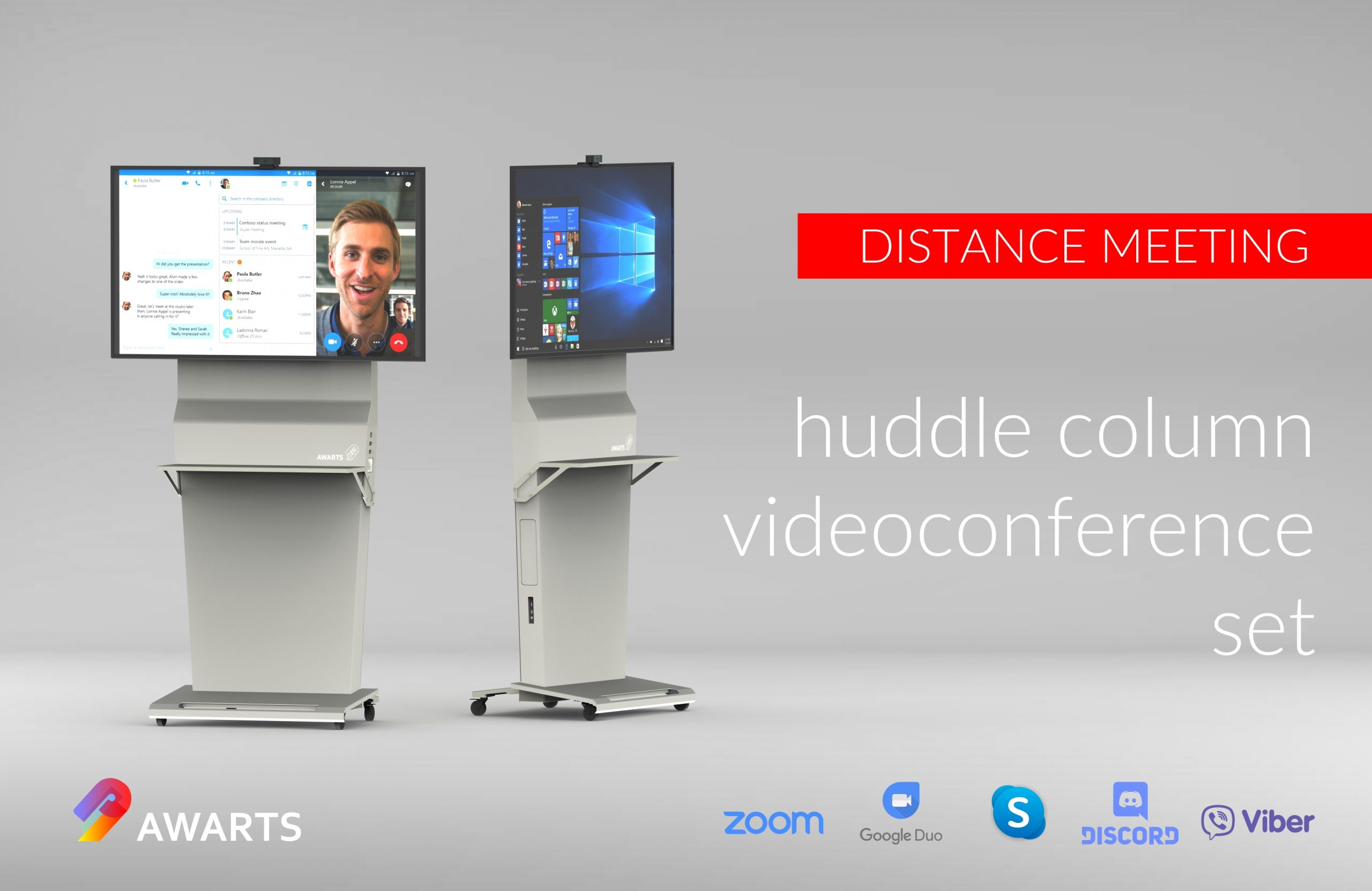 Videoconference column by Awarts – buy it in Trecom