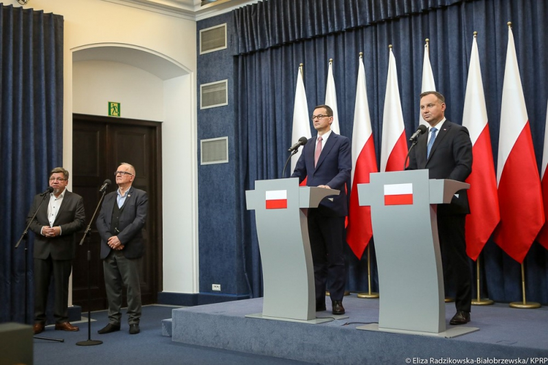 Press conference of The Prime Minister and The President of Poland