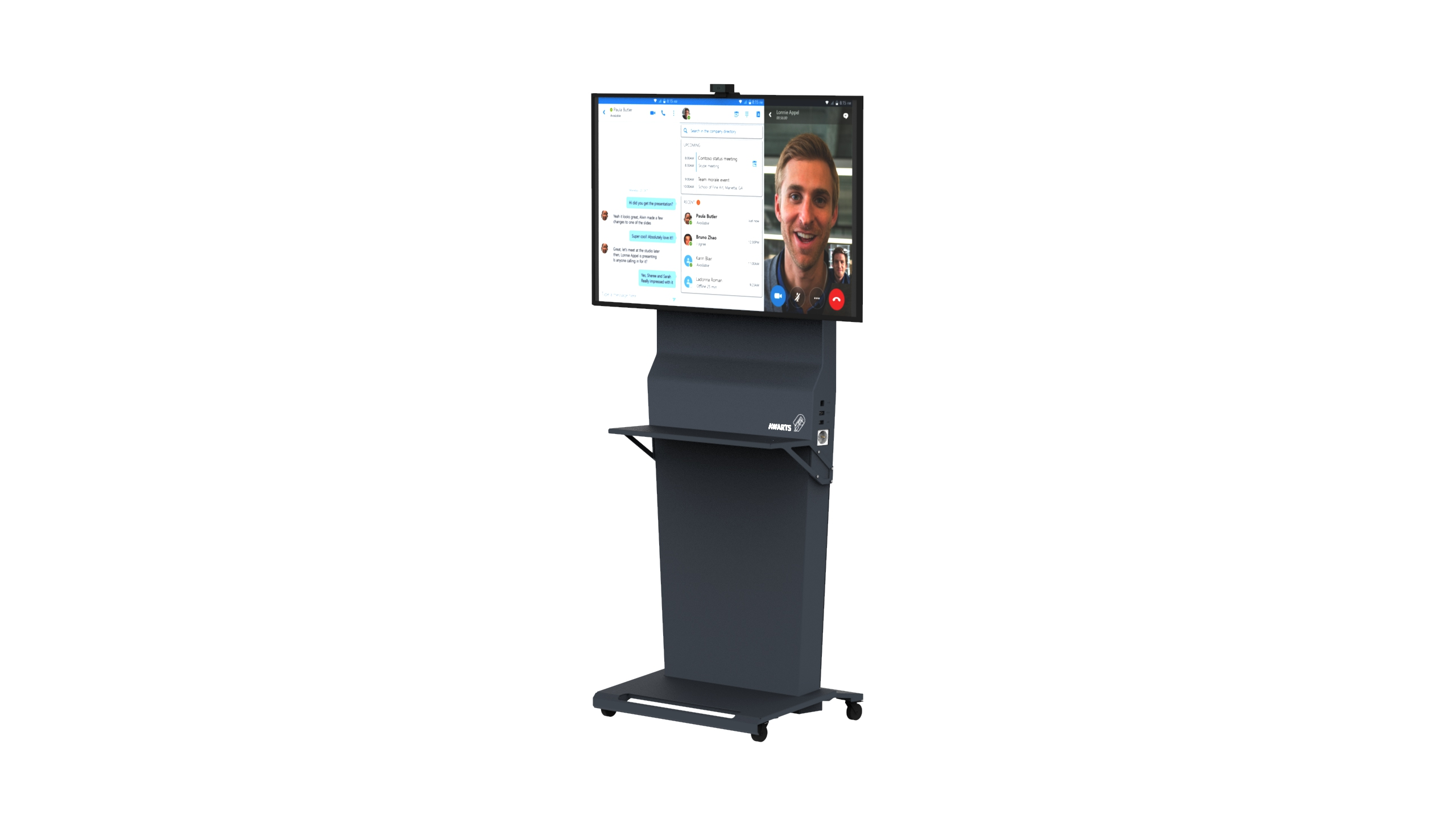 Huddle column – distance meetings and videoconferences solution