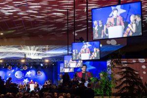 Premier Beata Szydło przemawia przy naszej mównicy Empora