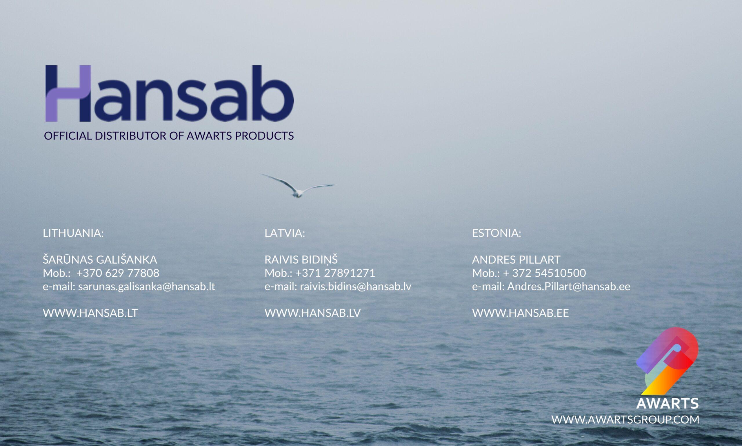 HANSAB – distributor for Baltic countries – Lithuania, Latvia and Estonia