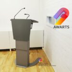 Multimedia lectern, podium with a touchscreen Antica